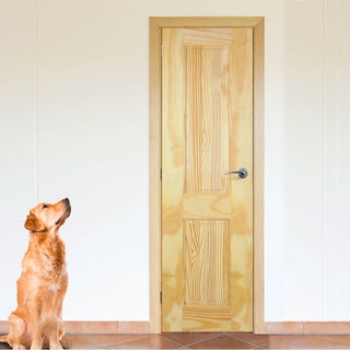Image: 2 Panel Clear Pine Door