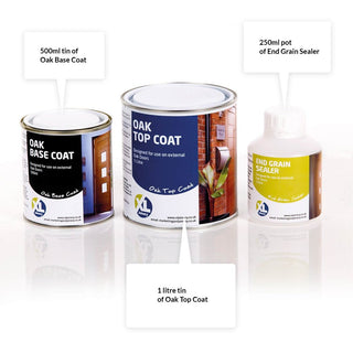 Image: Oak Door and Frame Decorating Kit - Base Coat -Top Coat - End Grain Sealer