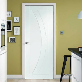 Image: Salerno Flush Door - White Primed - From Xl Joinery