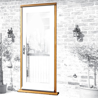 Image: Exterior Xl Joinery Single Door Frame - Oak Veneered