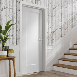 Image: Bespoke Pattern 10 Fire Door - 1/2 Hour Fire Rated and White Primed