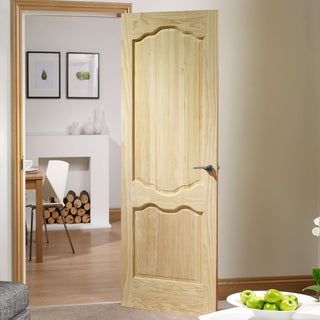 Image: louis clear pine door bac