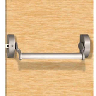 Image: Silver Painted: Pushbar Narrow Style Panic Latch XSL5760SV - 1 Colour Option