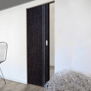 Image: Ash Grey Zanzibar Absolute Evokit Single Pocket Doors - Prefinished