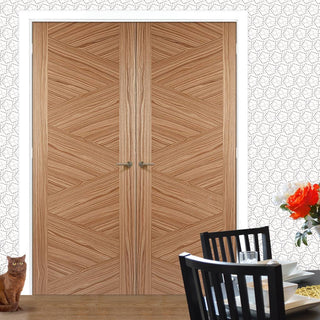 Image: Zeus Walnut Door Pair - Prefinished