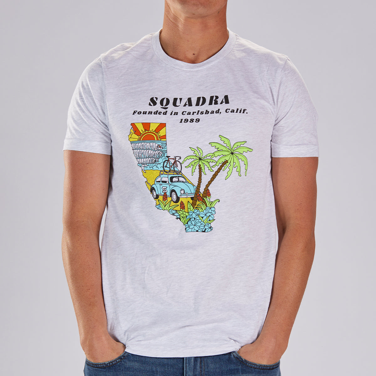 "MENS LIMITED EDITION COTTON TEE - ASH  ""SQUADRA CALIFORNIA"""