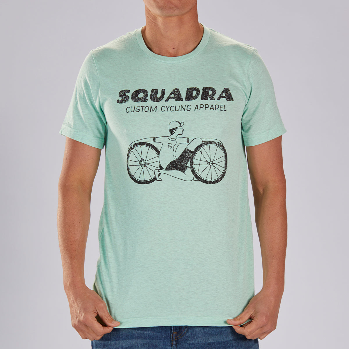 "MENS LIMITED EDITION COTTON TEE - MINT  ""SQUADRA DUDE"""