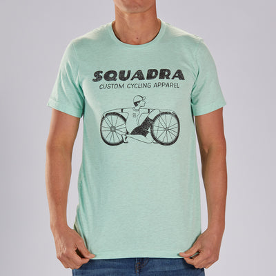 "Men's LIMITED EDITION COTTON TEE - MINT  ""SQUADRA DUDE"""