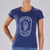 "WOMENS LIMITED EDITION COTTON TEE - HEATHER NAVY ""SQUADRA PATCH"""