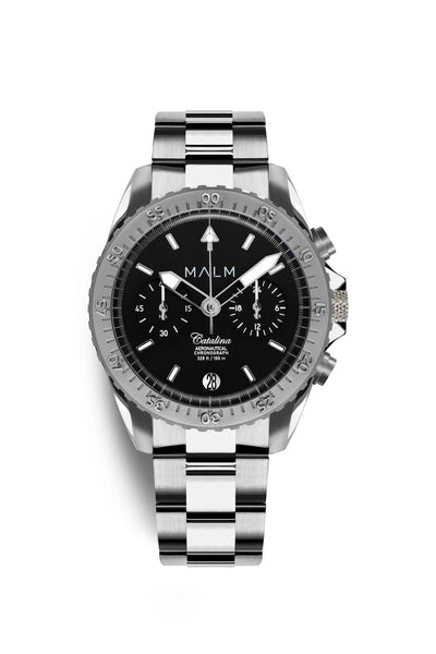 Catalina Black Silver Aeronautical Chronograph 41