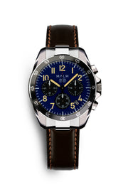 DALTON Blue Black Panda Chronograph 41 - malmwatches.com