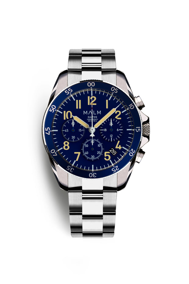 DALTON Blue Chronograph 41 - malmwatches.com