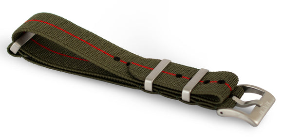 Green/Red Elastic Nato Strap