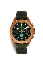 CATALINA Green Bronze Aeronautical Chronograph 41 - malmwatches.com