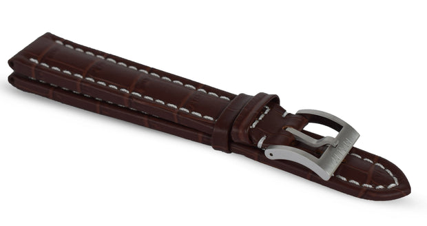 Brown Crocodile Strap XL - malmwatches.com