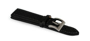 New! Black Carbon Leather Waterproof Strap
