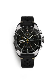 WHITEFOX Black Silver Chronograph 41 - malmwatches.com