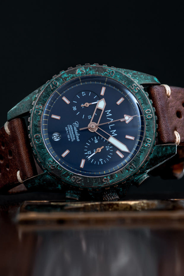 CATALINA Blue Bronze Wreck Chronograph 41 - malmwatches.com