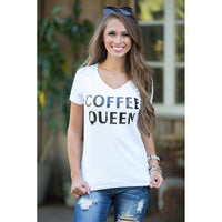 COFFEE QUEEN tshirts Women Casual tees T-Shirt Tops Fashion Clothing Outfits t shirt Short Sleeve Crewneck tee