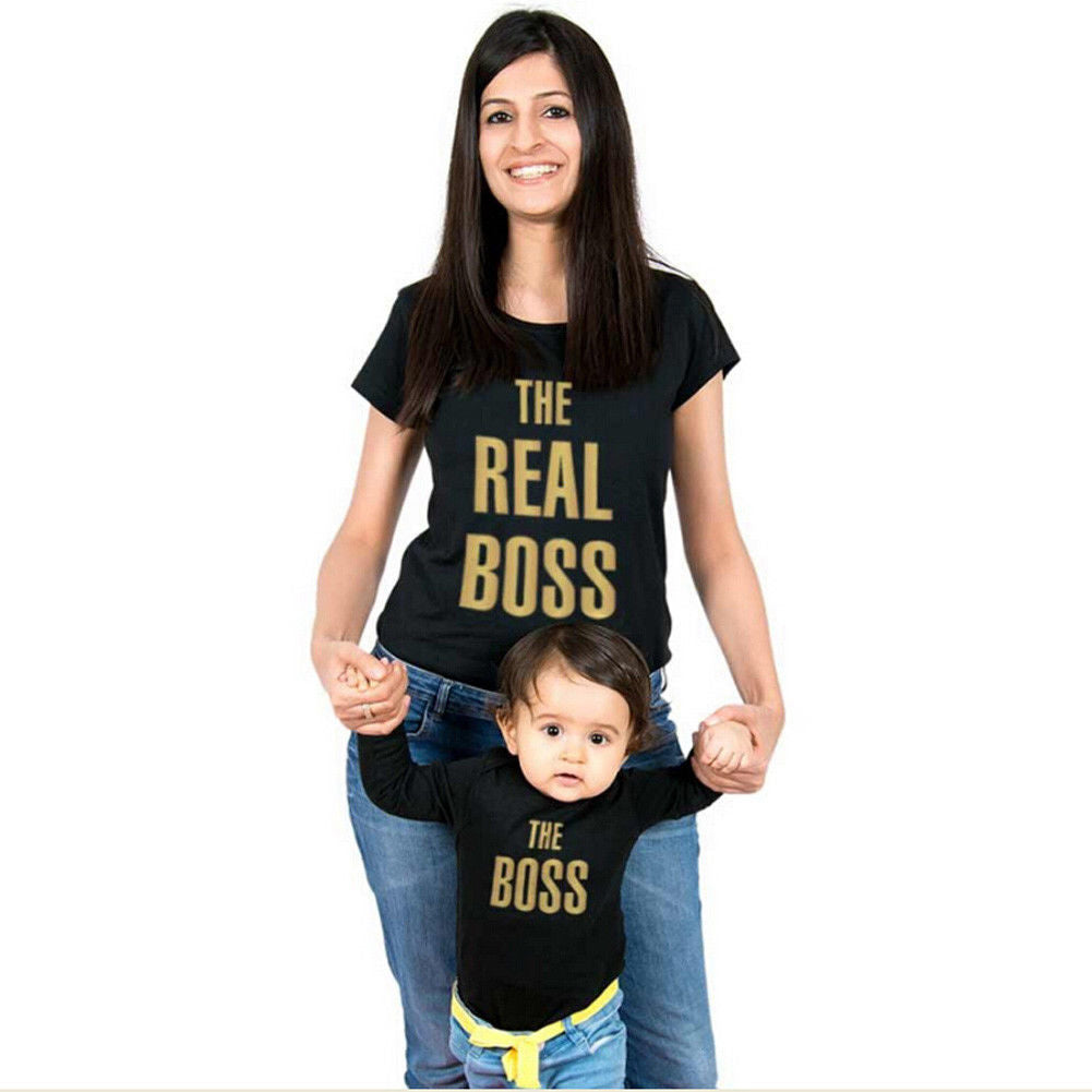 """The Real Boss"" Mom and son Boss Apparel"