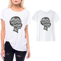 Lei SAGLY  S-3XL Plus Size Powerful Women Quotes T Shirt Casual Female Letter Print Punk Style Summer Tops Womens Clothing