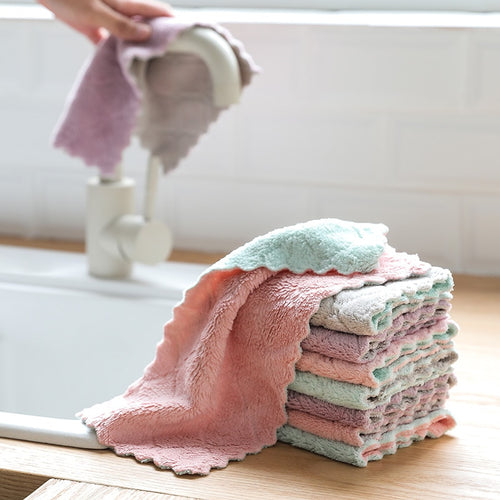 2pcs Super Absorbent Microfiber kitchen dish cloth