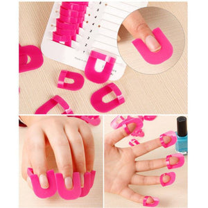 26pcs Nail Polish Protector Tools+ 1 PC French Manicure Stickers