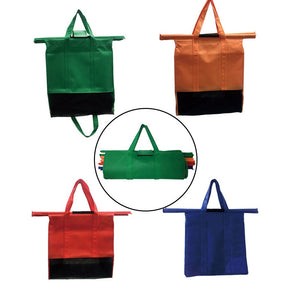 Reusable Shopping Cart Bags and Grocery Organizer for Trolley Carts