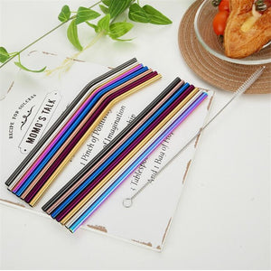 2/4/8Pcs Reusable Drinking Straw
