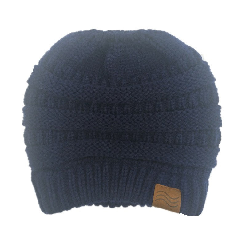 cbc78a90250 ... Ponytail Beanie Hat Winter Skullies Beanies Warm Caps Female Knitted Stylish  Hats For Ladies Fashion ...