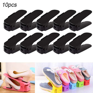 10pcs Adjustable Shoe Organizer