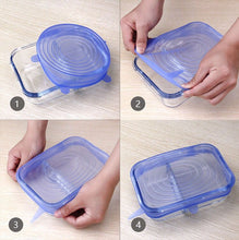 6pcs Reusable Food Wrap Silicon Stretch Lids