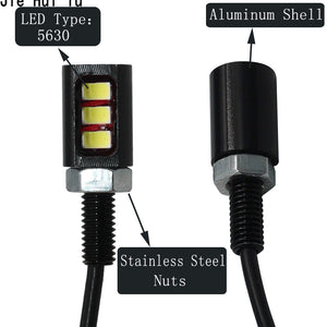2Pcs Car Licence Plate Number Light