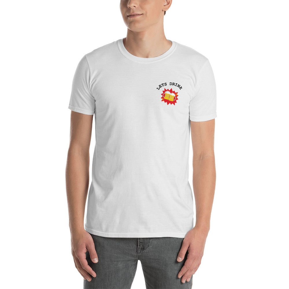 Wonderful Lets Drink Beer Pocket Logo T-Shirt (White) – Utterly Basic KD46