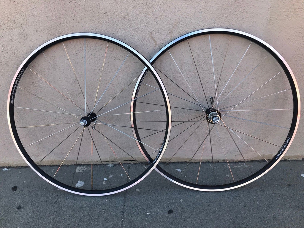 Campagnolo Nucleon Clincher 700c Road Wheelset 9-11 Speed Campy - Vintage By Velo