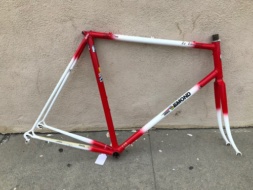 58cm Greg Lemond Le Vanquer Columbus Cromor Lugged Steel Road Frame Fork