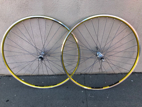 Colnago Ambrosio Excellence TQB Record Hub Wheelset 700c Clincher GOLD 9-11speed