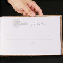 Load image into Gallery viewer, Village Burlap Hessian Wedding Guest Book