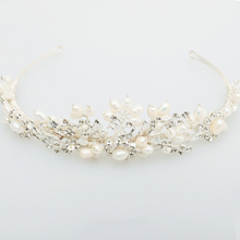 Load image into Gallery viewer, Bridal Silver Pearl Crown