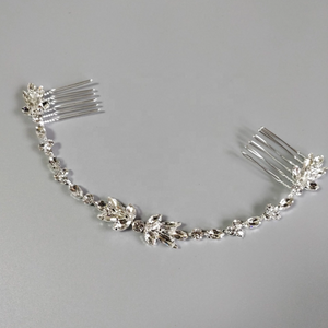 Silver Crystal Hair Vine Comb
