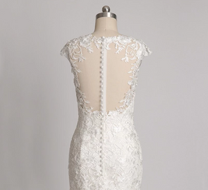Modern Lace Mermaid Wedding Dress