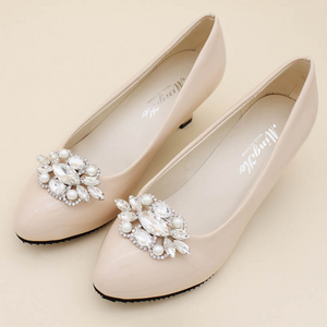 Shoes Clip Accessories Pearl And Crystal