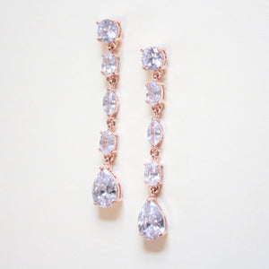 Rose Gold Long Dropped Earrings
