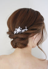 Load image into Gallery viewer, Silver Rhinestone Bridal comb - BCW accessories