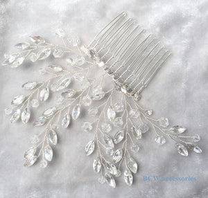 Bridal Crystal Hair Comb Silver - BCW accessories