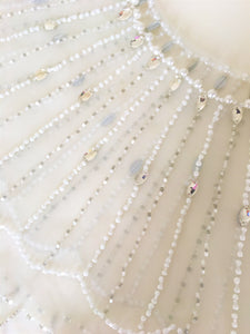 Bridal Crystal And Pearl Beaded Bolero - BCW accessories