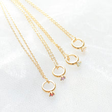 Load image into Gallery viewer, Baby Ring Birthstone Gold Necklace