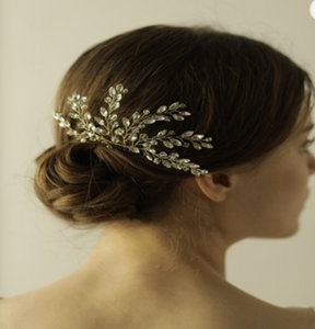 Bridal Crystal Hair Comb Gold - BCW accessories