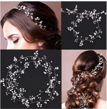 Load image into Gallery viewer, Extra Long Bridal Hair Accessory Silver - BCW accessories
