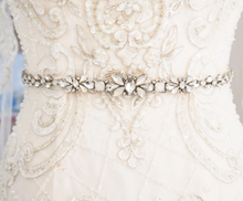 Load image into Gallery viewer, Opal Crystal Rhinestone Wedding Sash Belt - BCW accessories